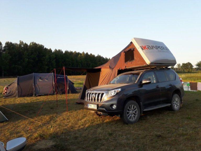 auto jumta telts salikts